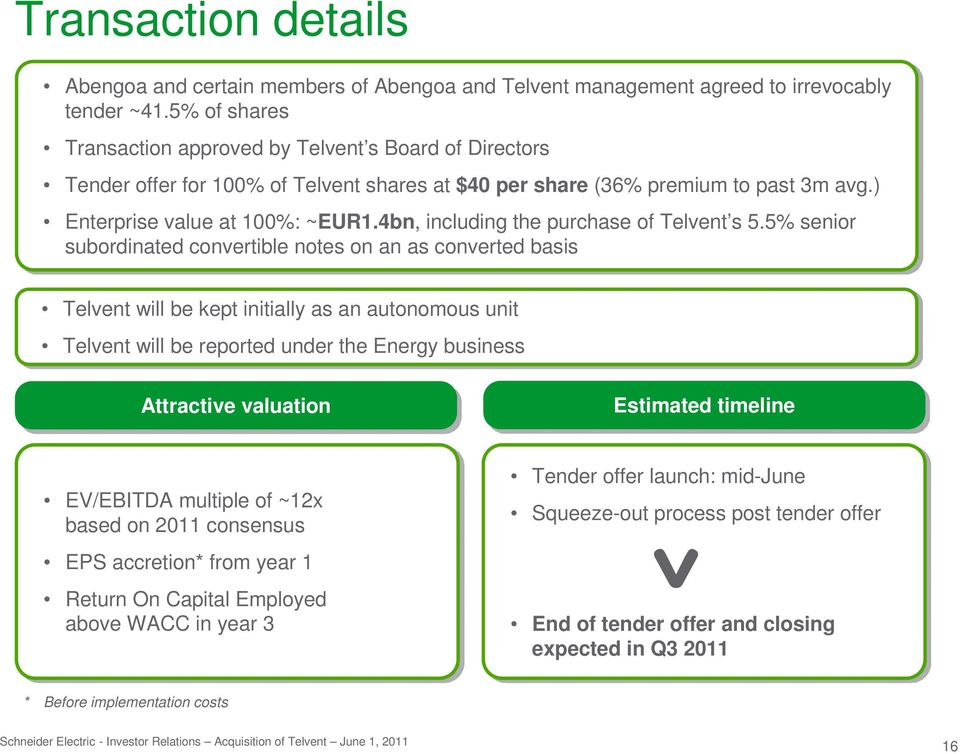 4bn, including the purchase of Telvent s 5.