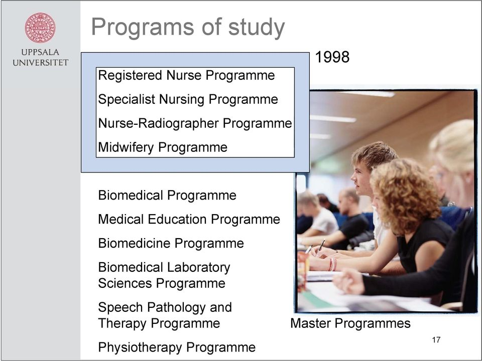 Medical Education Programme Biomedicine Programme Biomedical Laboratory Sciences
