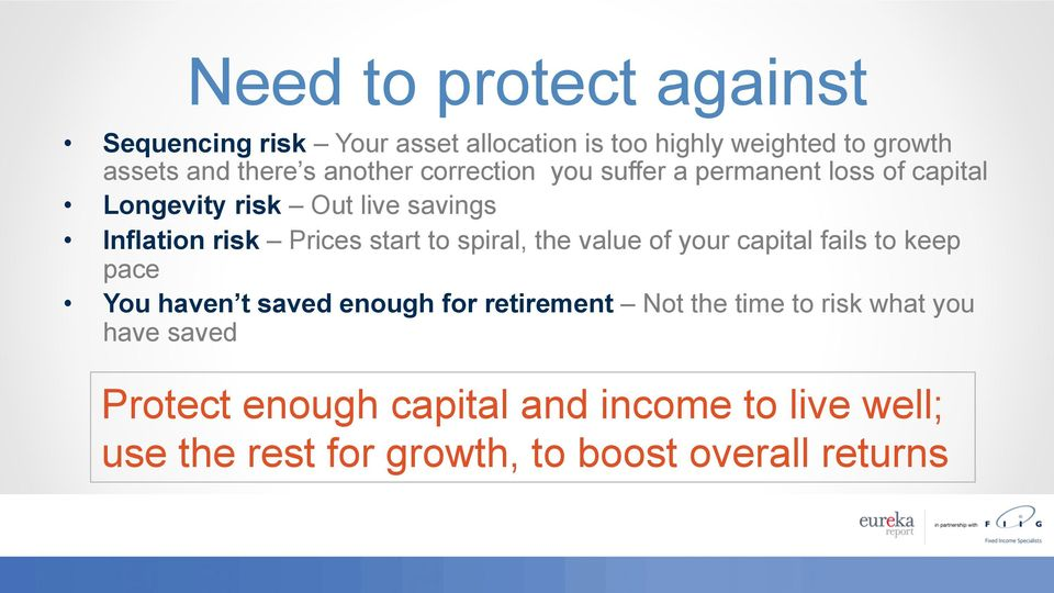 start to spiral, the value of your capital fails to keep pace You haven t saved enough for retirement Not the time