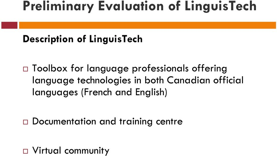 language technologies in both Canadian official languages