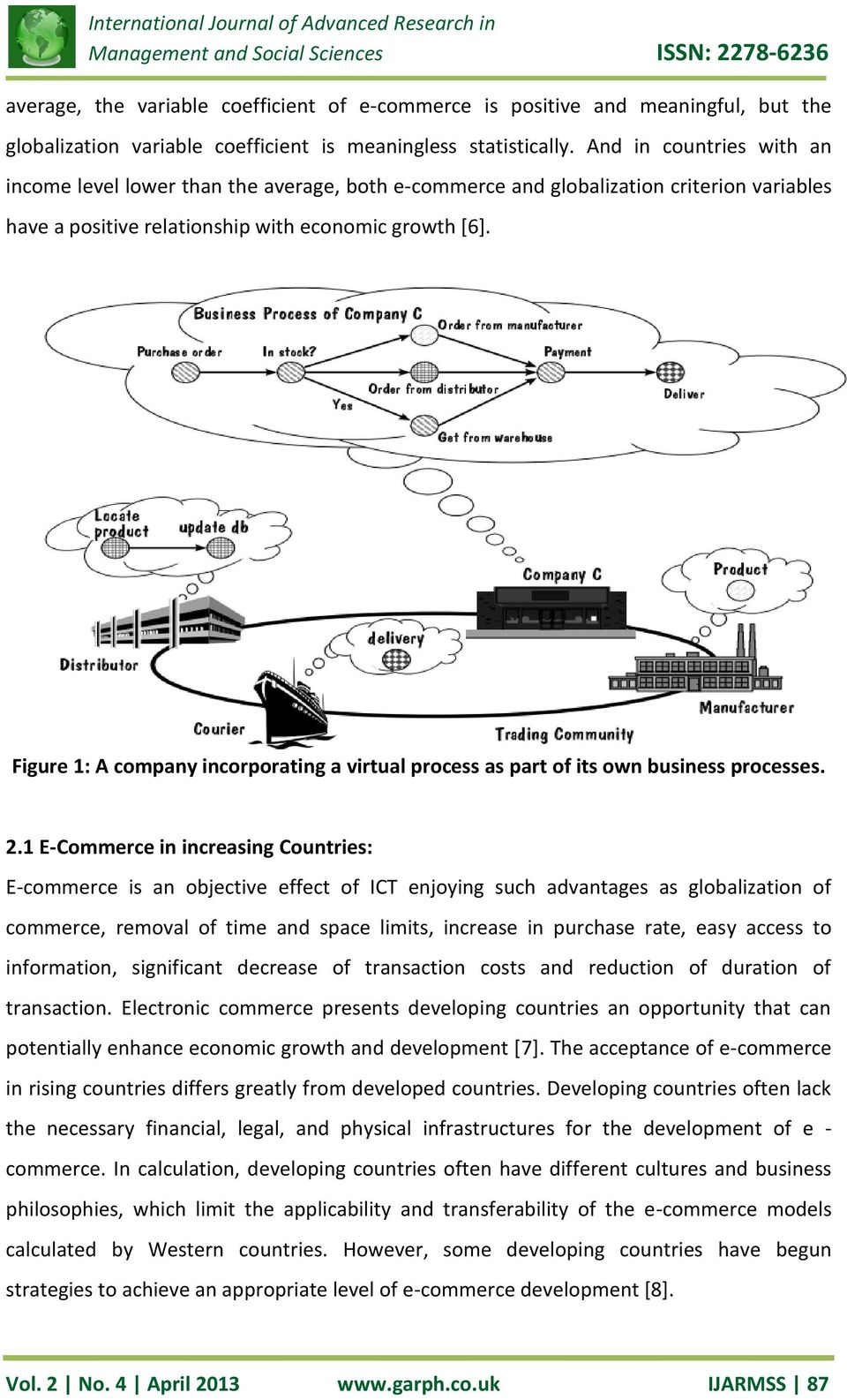 Figure 1: A company incorporating a virtual process as part of its own business processes. 2.