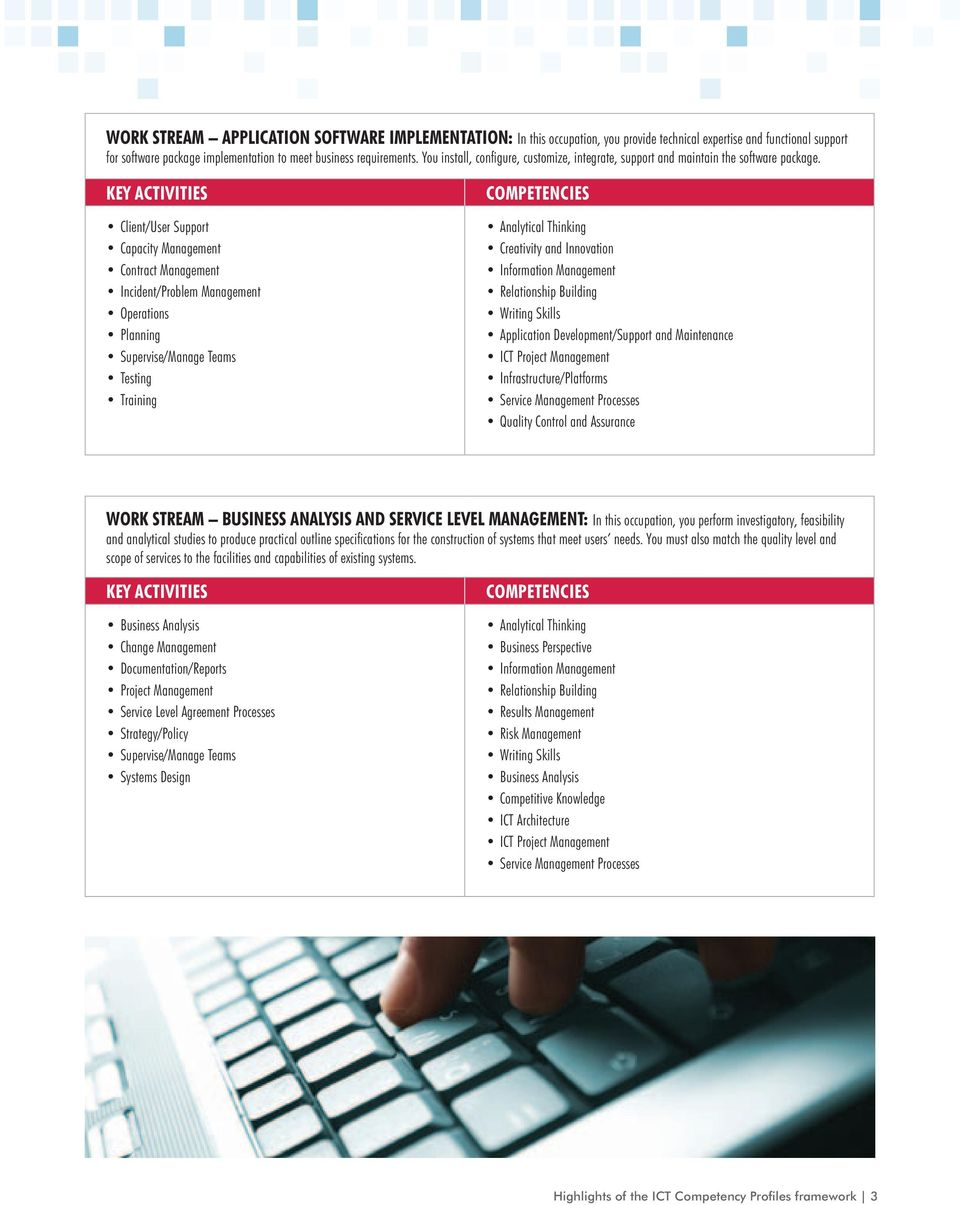 highlights of the ict competency profiles framework pdf