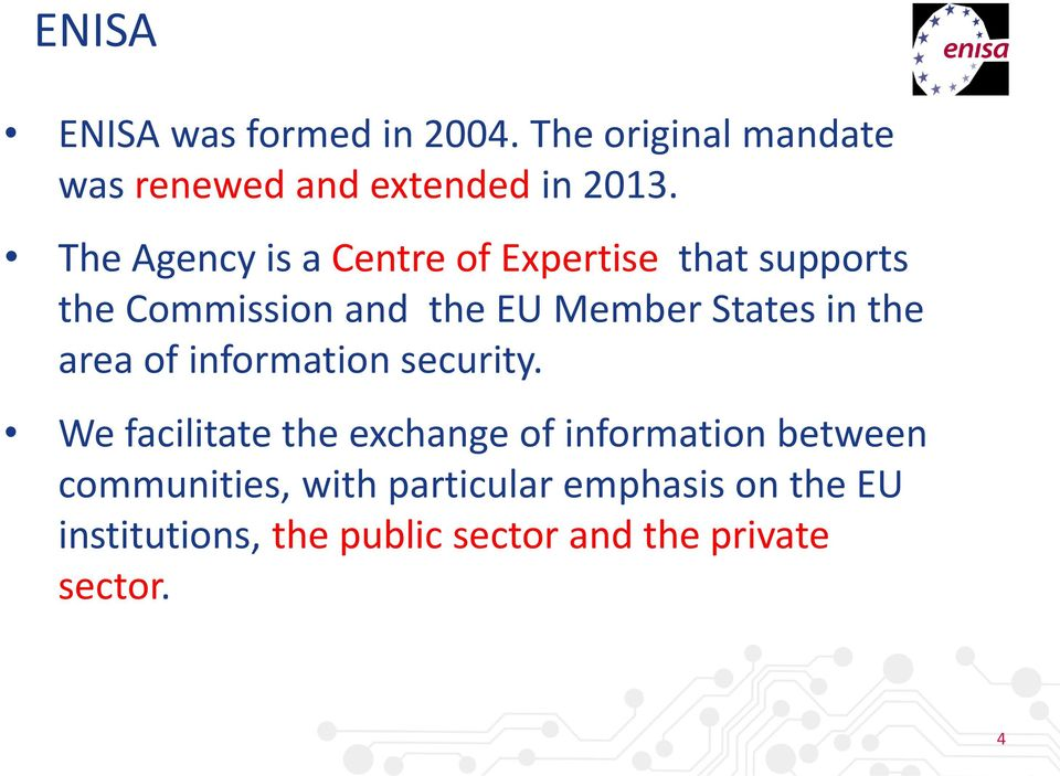 the area of information security.