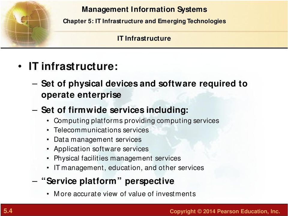 management services Application software services Physical facilities management services IT management, education,