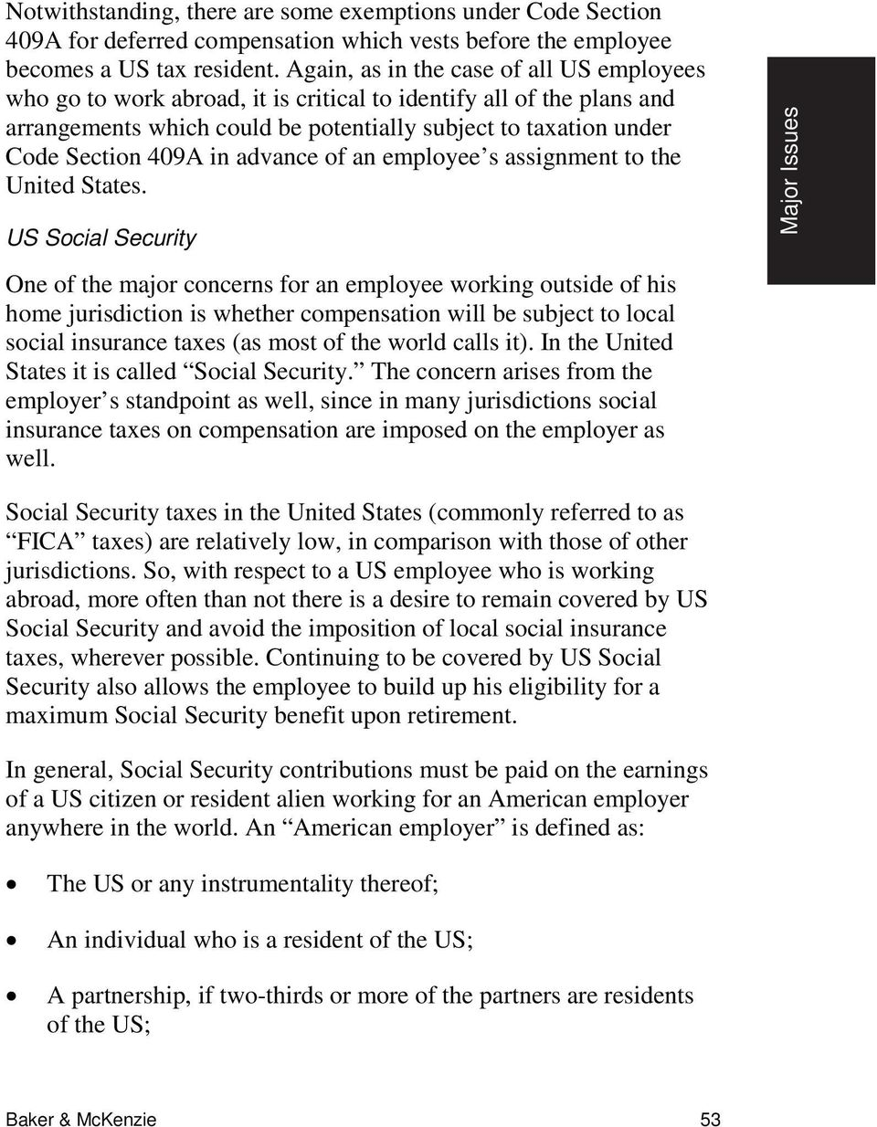advance of an employee s assignment to the United States.
