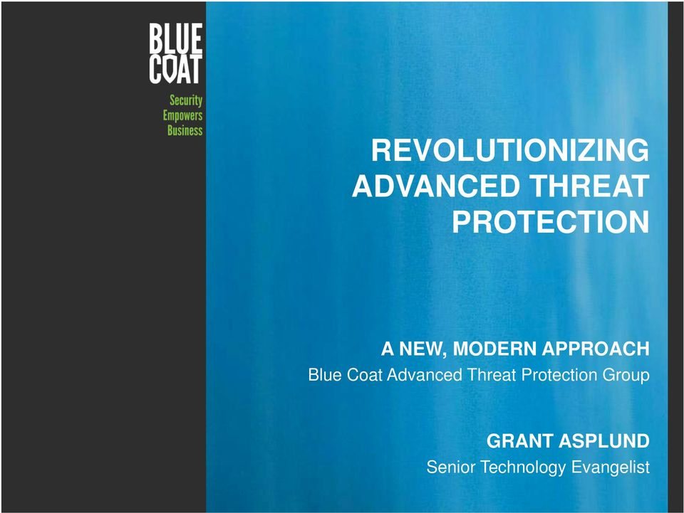 Coat Advanced Threat Protection Group