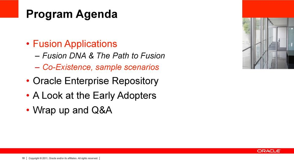 Repository A Look at the Early Adopters Wrap up and Q&A 18