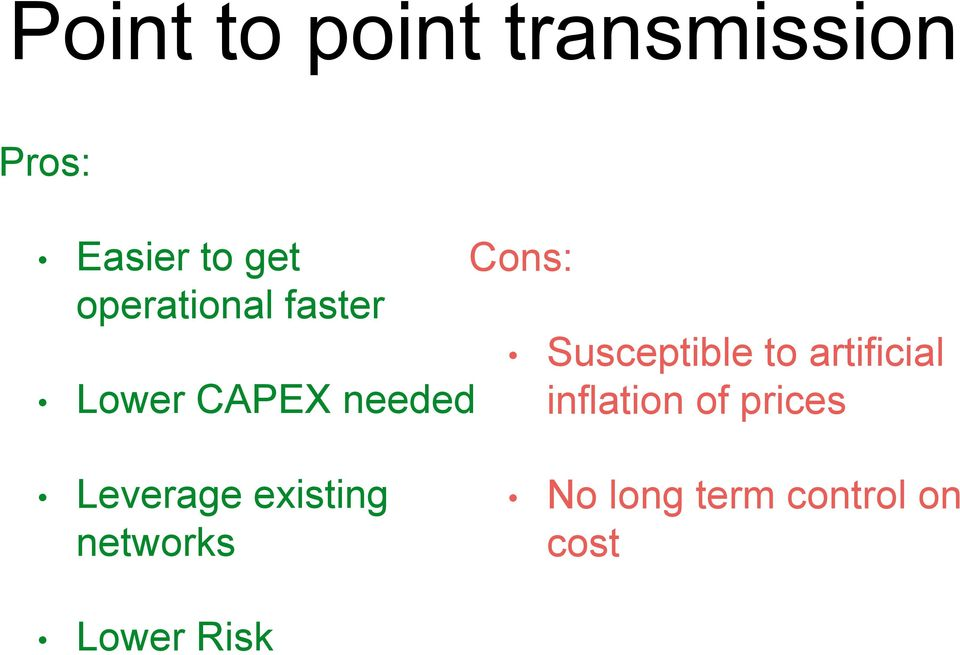 Lower CAPEX needed inflation of prices Leverage