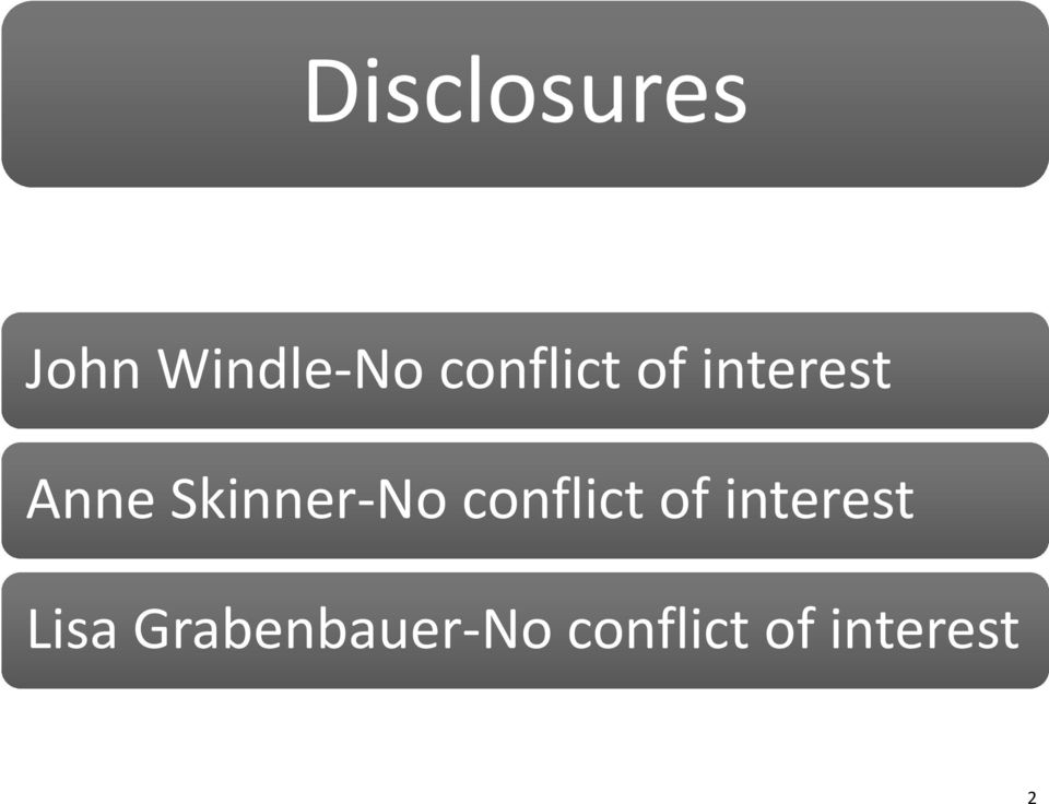 Skinner No conflict of interest