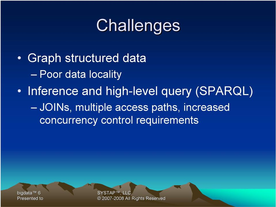 (SPARQL) JOINs, multiple access paths,