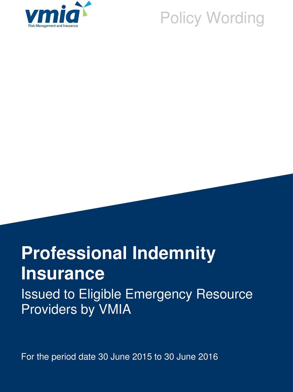 Emergency Resource Providers by VMIA