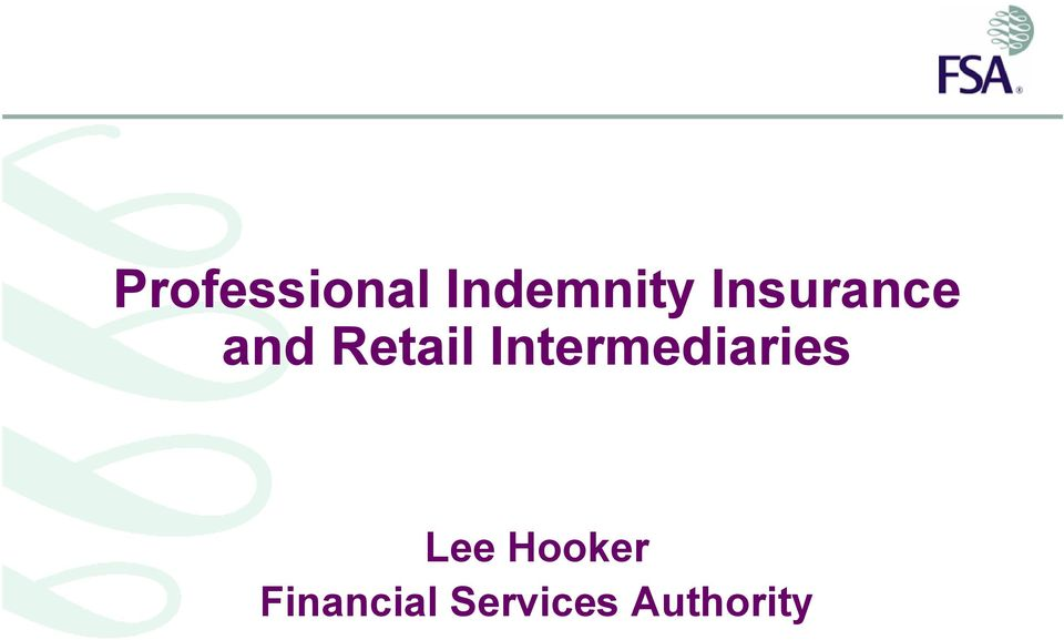 Intermediaries Lee