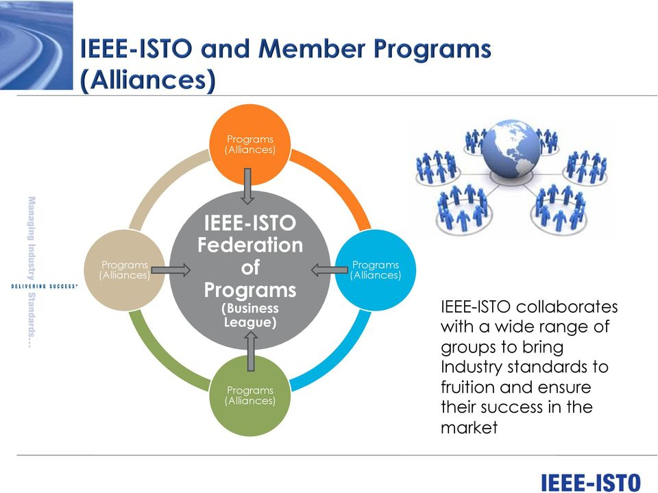 (Alliances) IEEE-ISTO collaborates with a wide range of groups to