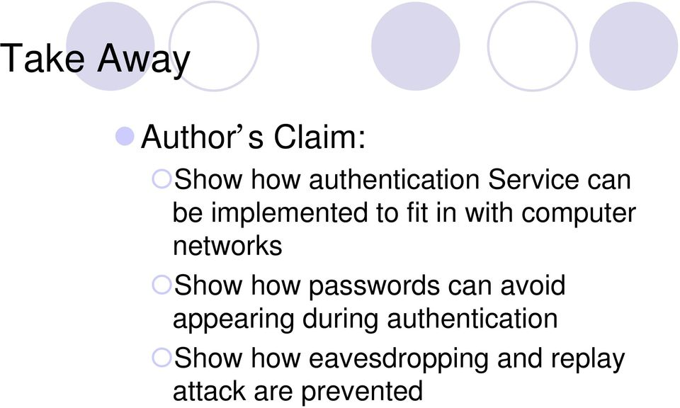 networks Show how passwords can avoid appearing during