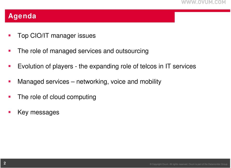 expanding role of telcos in IT services Managed services