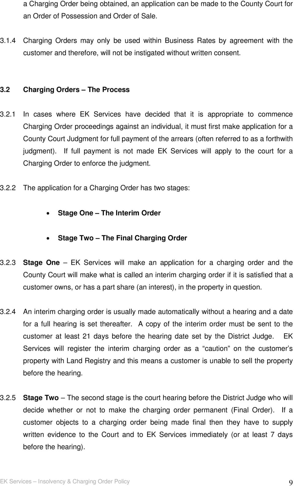 Charging Orders The Process 3.2.
