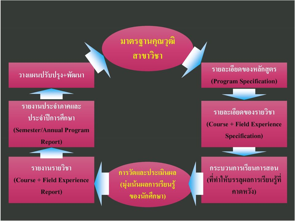 Field Experience Specification) รายงานรายว ชา (Course + Field Experience Report) การว ดและประเม