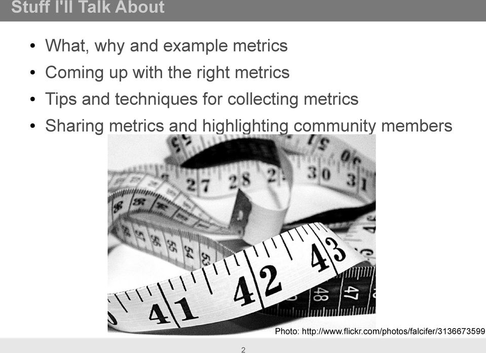 collecting metrics Sharing metrics and highlighting