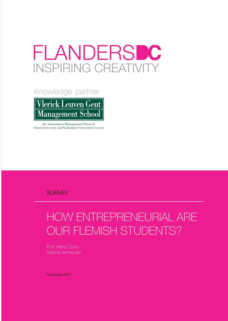 HOW ENTREPRENEURIAL ARE OUR FLEMISH STUDENTS   PDF Free Download