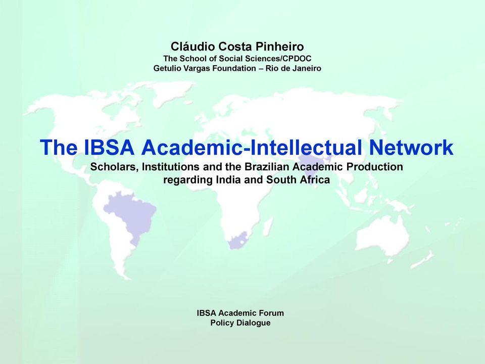 Network Scholars, Institutions and the Brazilian Academic