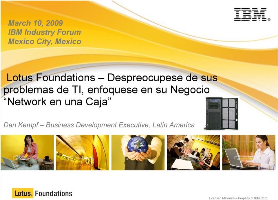 su Negocio Network en una Caja Dan Kempf Business Development