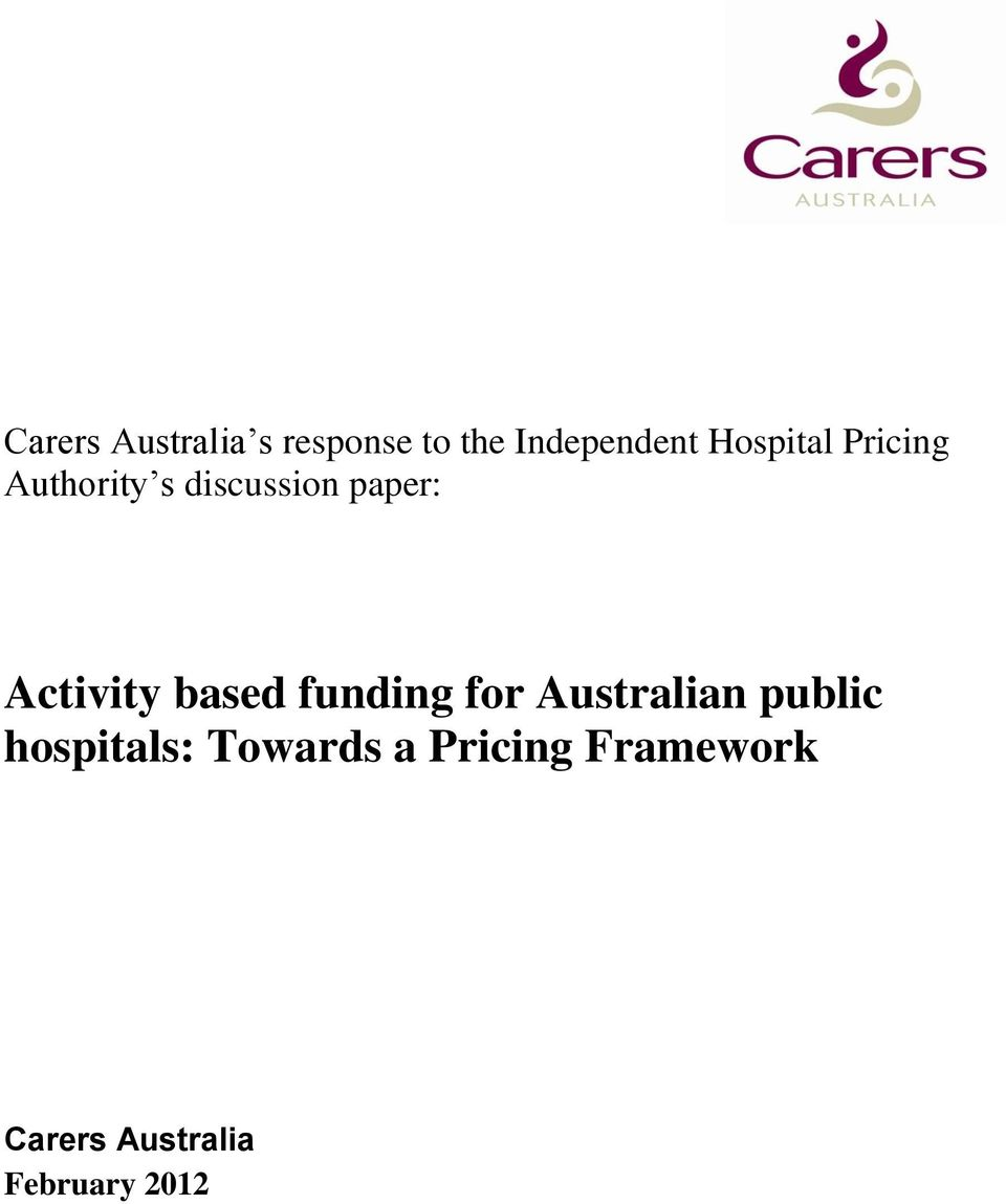 Activity based funding for Australian public