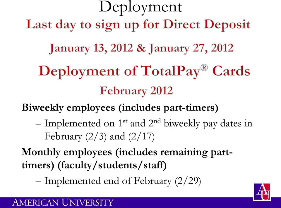 (2/3) and (2/17) Monthly employees (includes remaining