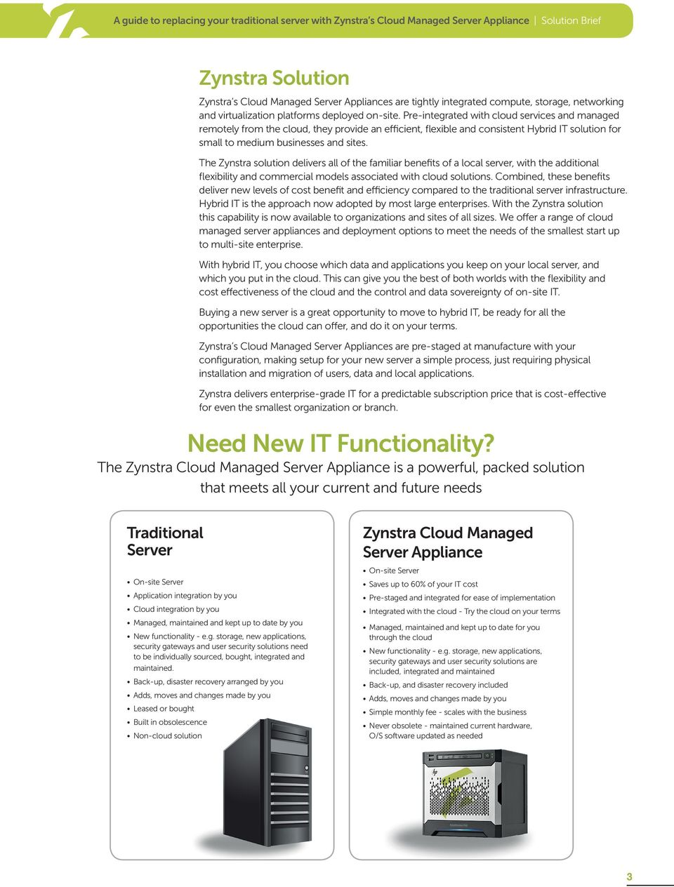 The Zynstra solution delivers all of the familiar benefits of a local server, with the additional flexibility and commercial models associated with cloud solutions.