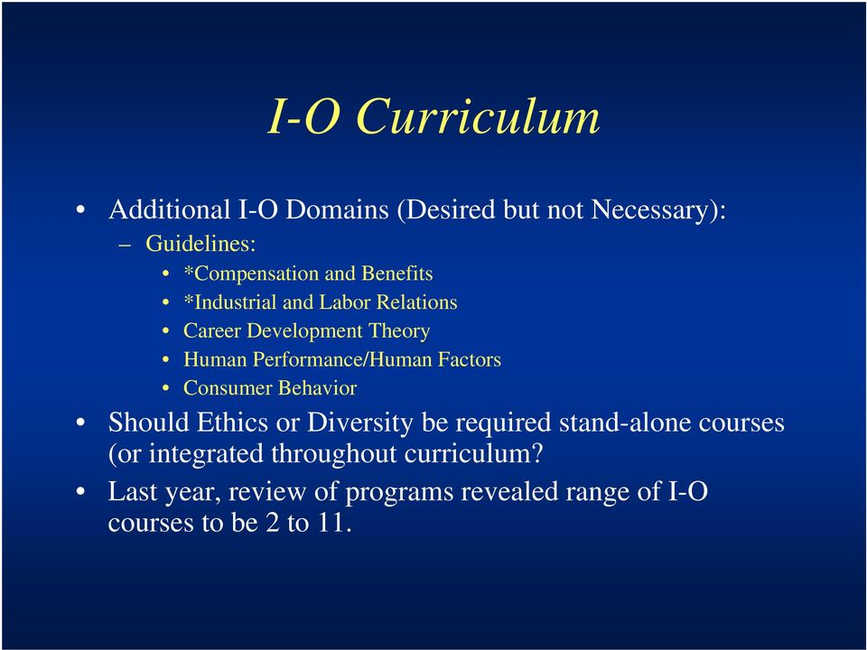 Factors Consumer Behavior Should Ethics or Diversity be required stand-alone courses (or