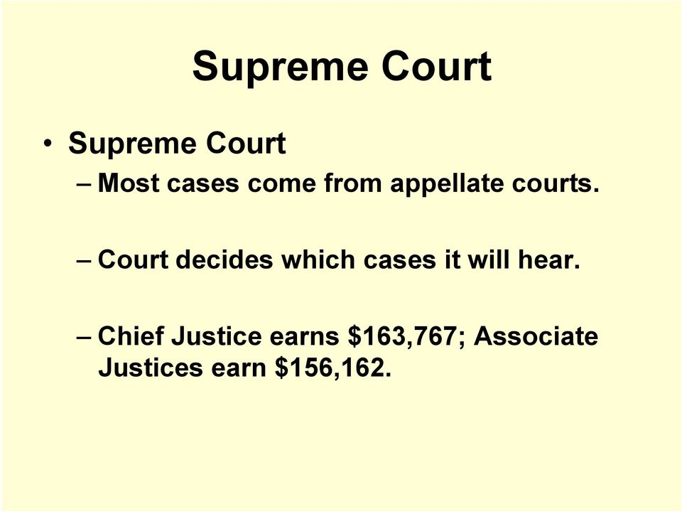 Court decides which cases it will hear.