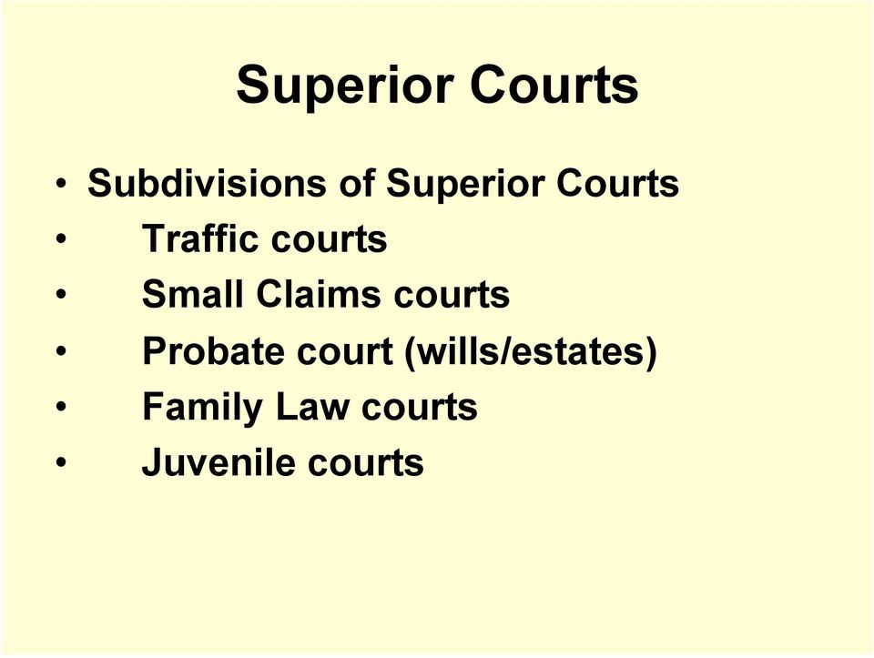 Claims courts Probate court