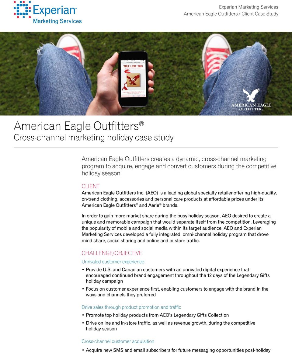(AEO) is a leading global specialty retailer offering high-quality, on-trend clothing, accessories and personal care products at affordable prices under its American Eagle Outfitters and Aerie brands.