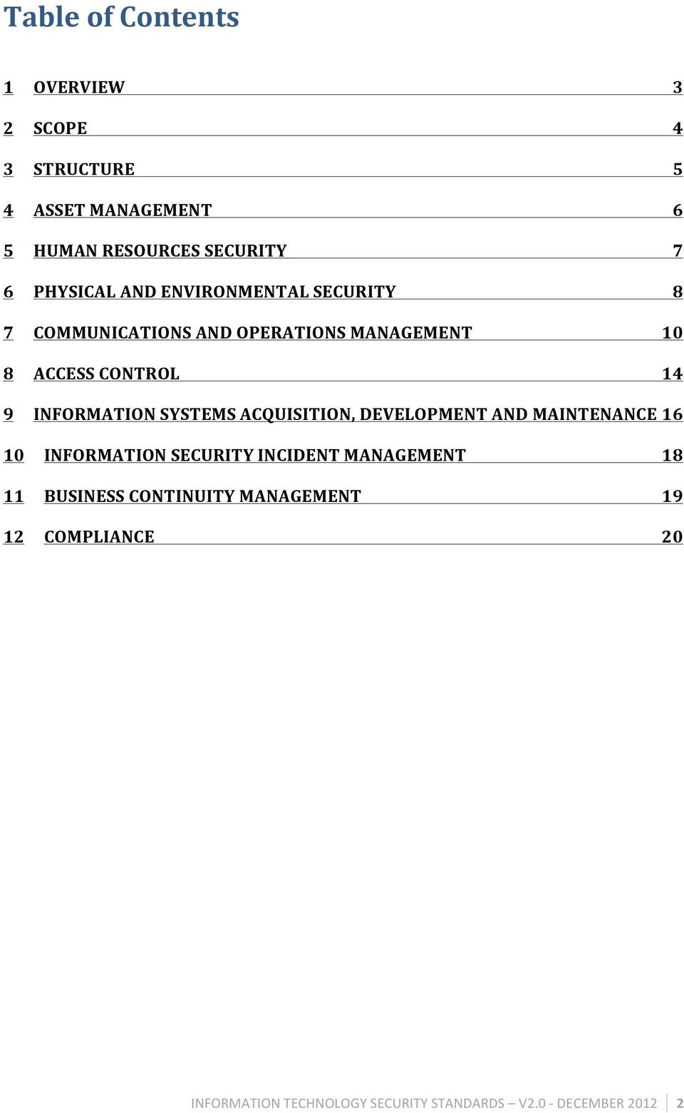 INFORMATION SYSTEMS ACQUISITION, DEVELOPMENT AND MAINTENANCE 16 10 INFORMATION SECURITY INCIDENT MANAGEMENT 18
