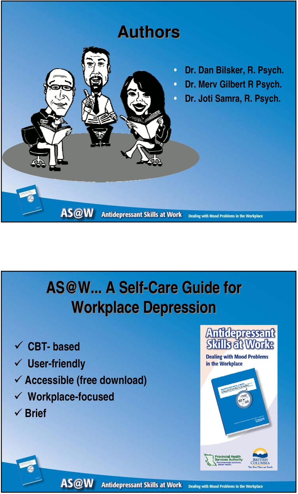 .. A Self-Care Guide for Workplace Depression CBT-