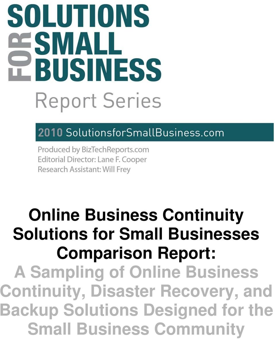 Online Business Continuity, Disaster Recovery,