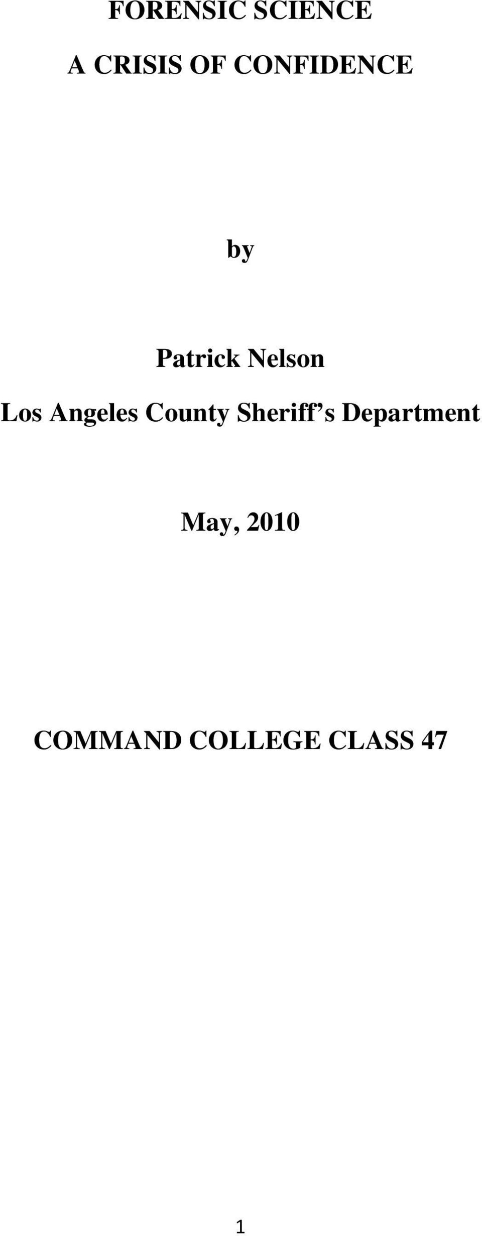 Angeles County Sheriff s