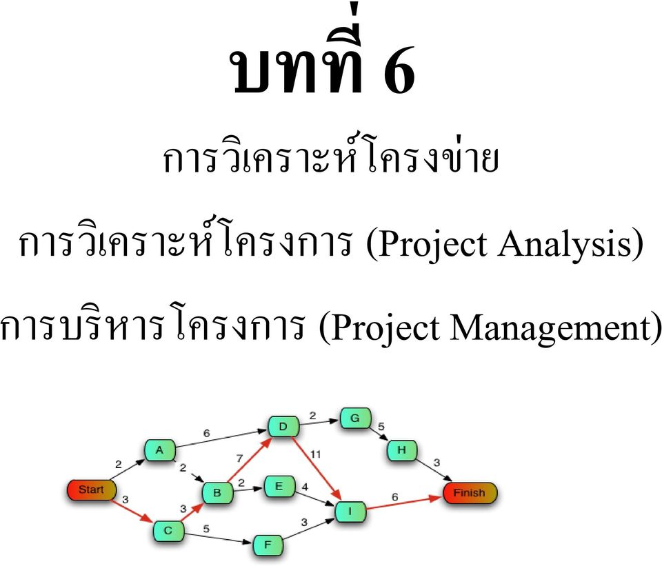 (Project Analysis) การบร