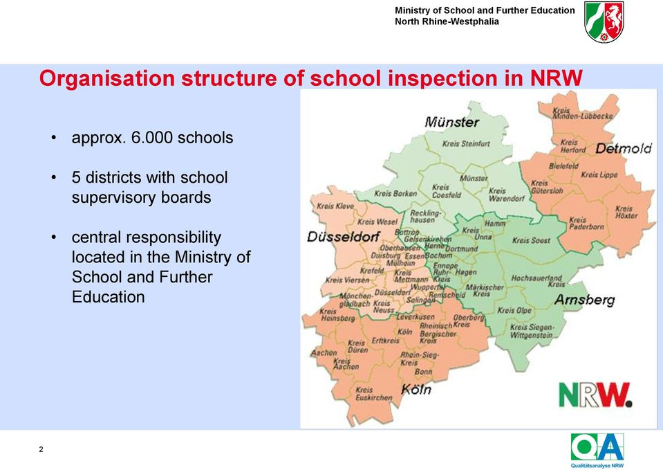 000 schools 5 districts with school supervisory