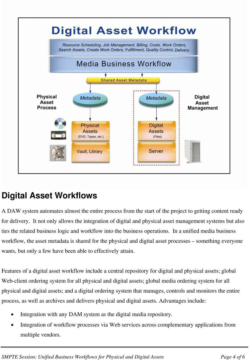 In a unified media business workflow, the asset metadata is shared for the physical and digital asset processes something everyone wants, but only a few have been able to effectively attain.
