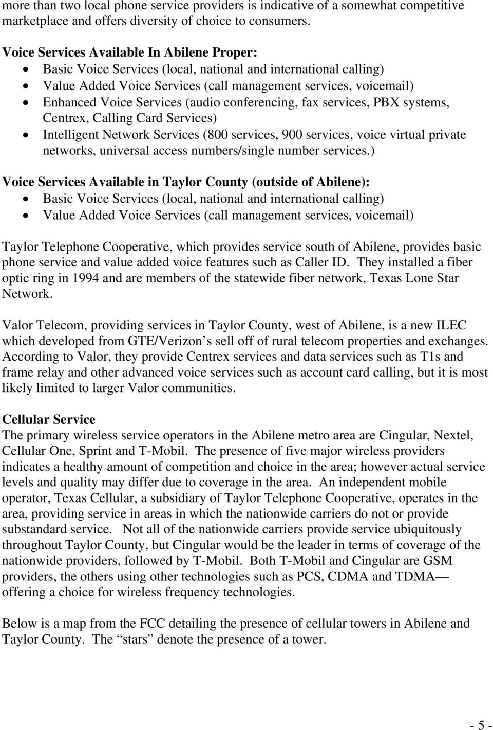 City of Abilene and Surrounding Counties Technology