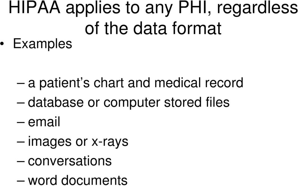 medical record database or computer stored
