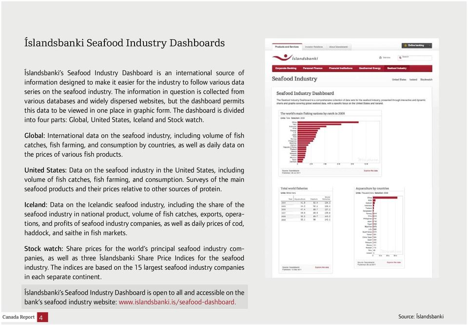The dashboard is divided into four parts: Global, United States, Iceland and Stock watch.