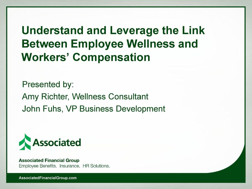Compensation Presented by: Amy Richter,