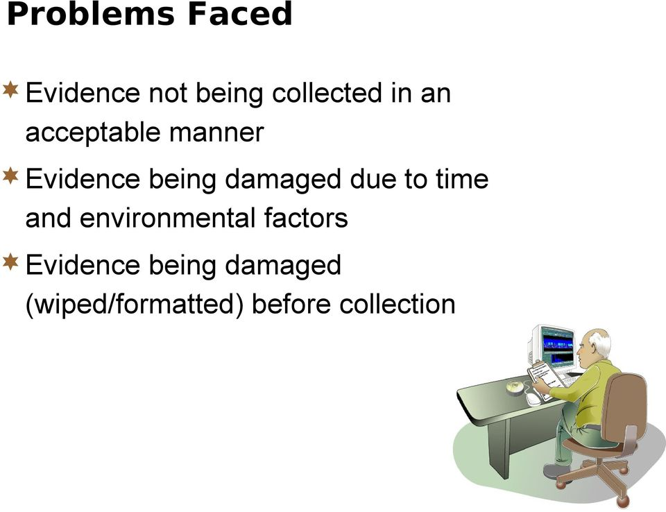 due to time and environmental factors Evidence