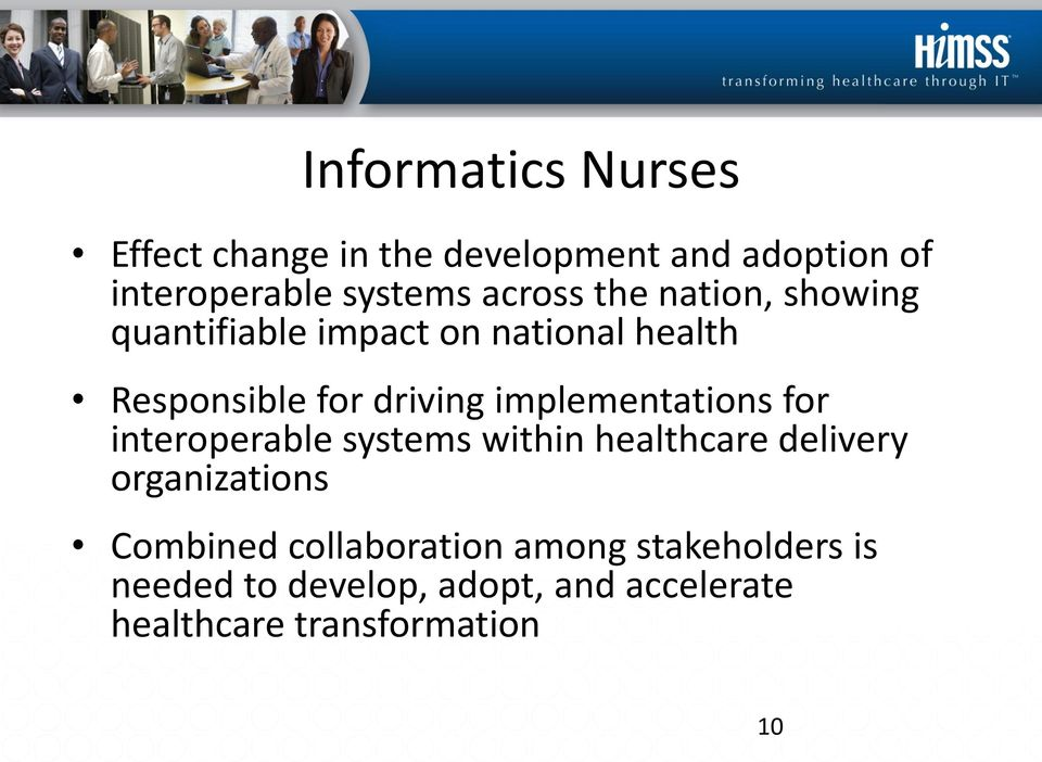 implementations for interoperable systems within healthcare delivery organizations Combined