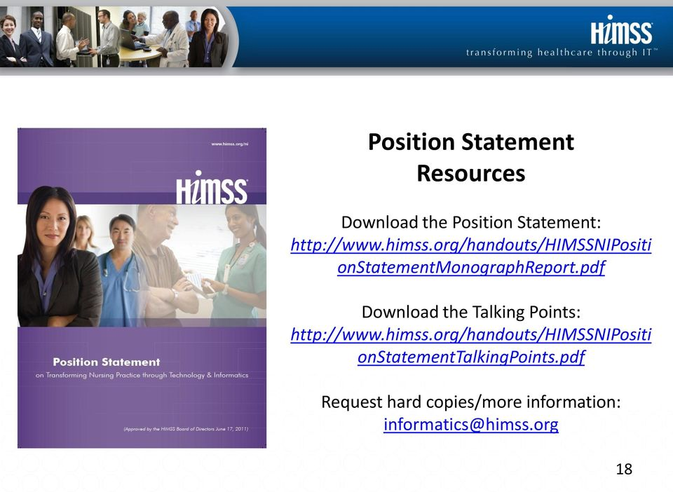 pdf Download the Talking Points: http://www.himss.