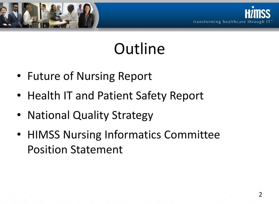 National Quality Strategy HIMSS