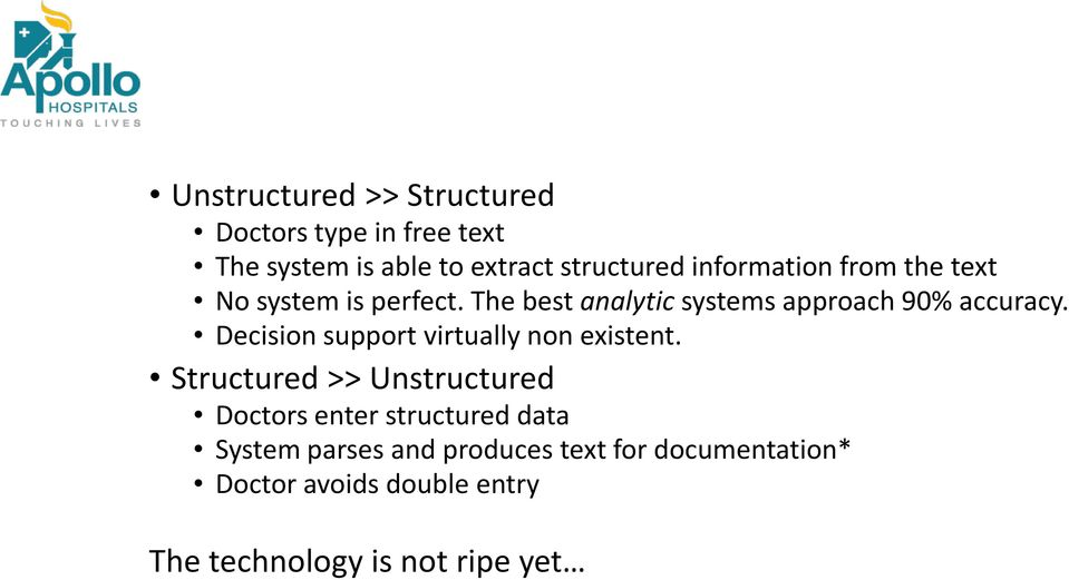 information from the text No system is perfect. The best analytic systems approach 90% accuracy.