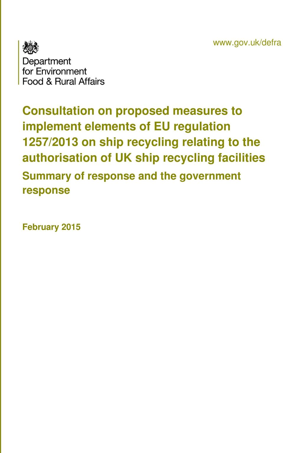 elements of EU regulation 1257/2013 on ship recycling