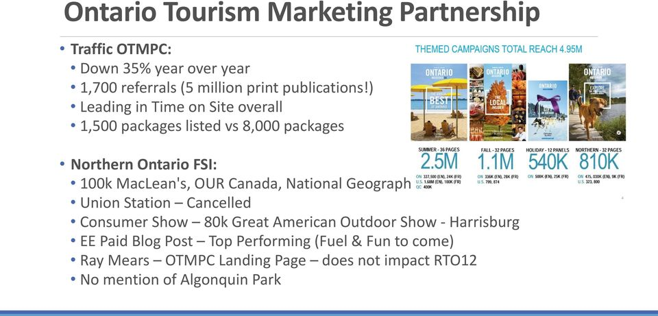 National Geographic Traveller Union Station Cancelled Consumer Show 80k Great American Outdoor Show - Harrisburg EE Paid